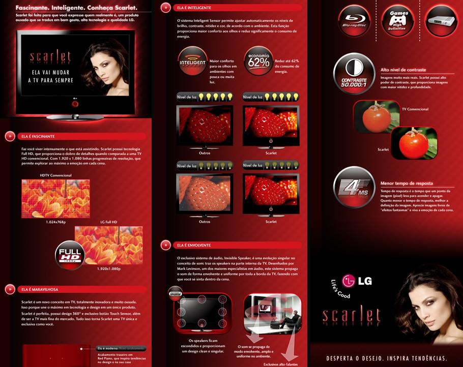 LG Scarlet · Página do produto