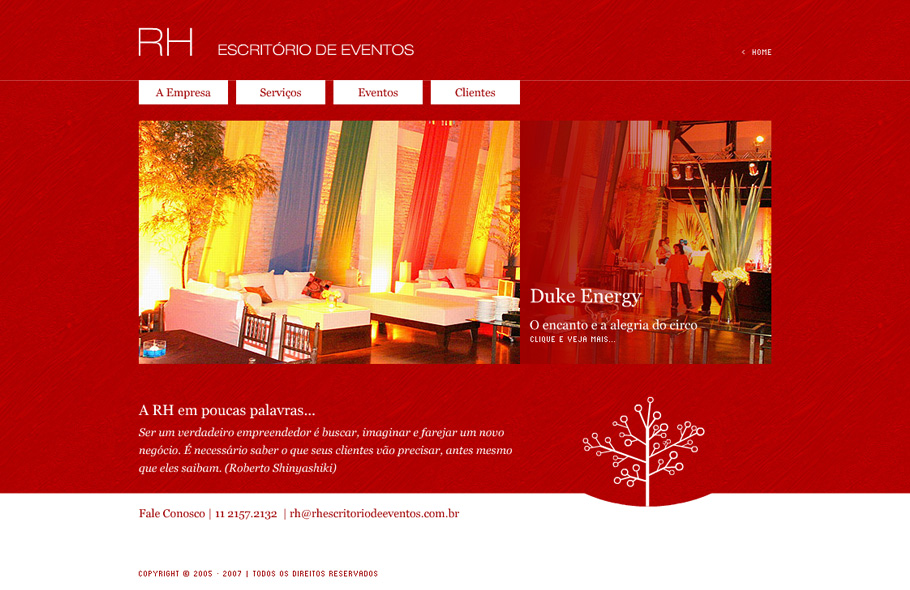 RH Escritório de Eventos · Site