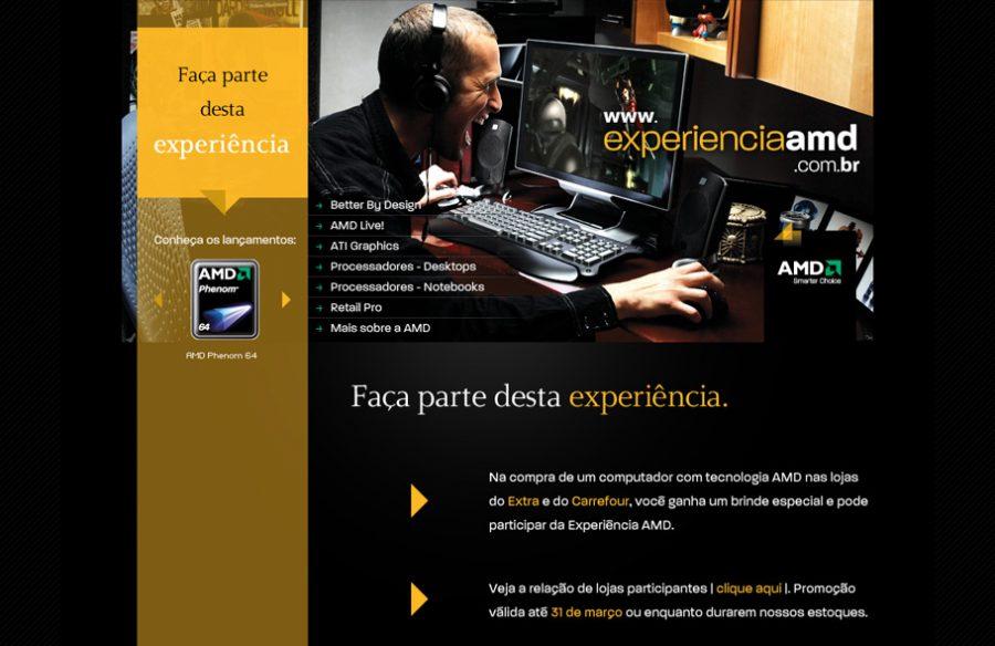 Experiência AMD · Hotsite