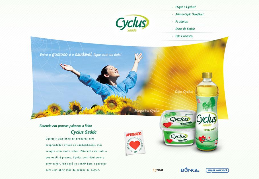 Cyclus Saúde · Site