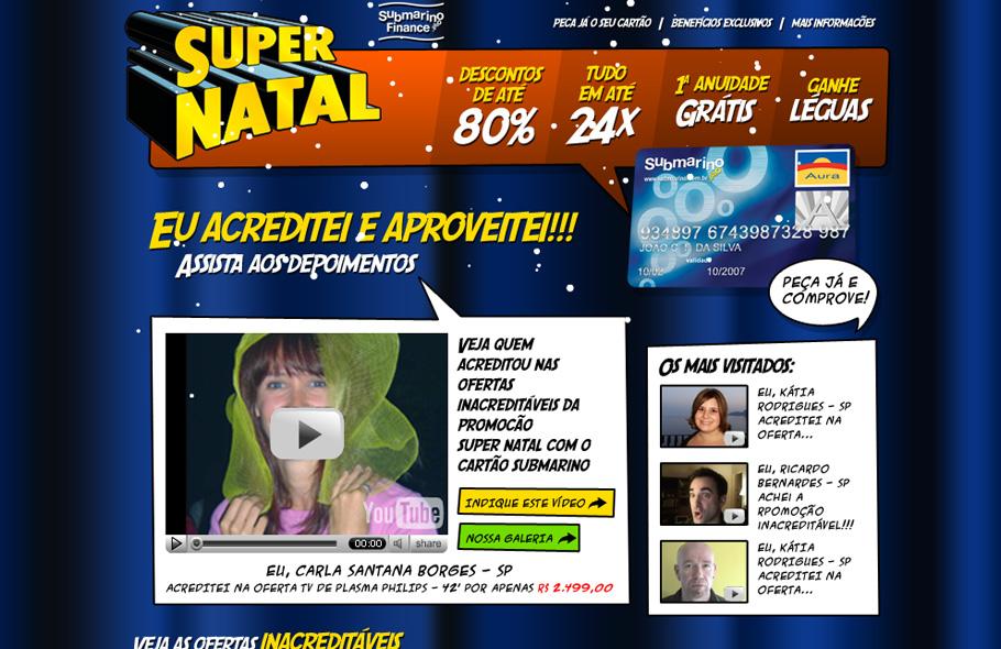 Super Poderes Cartão Submarino · Campanha online