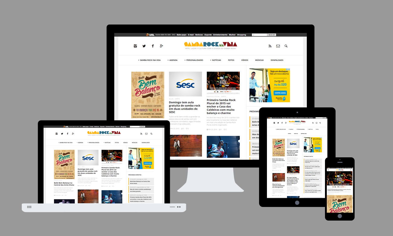Website Samba Rock Na Veia - Projeto: Nego Júnior